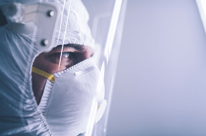 Physician in PPE fighting COVID-19 in New Jersey